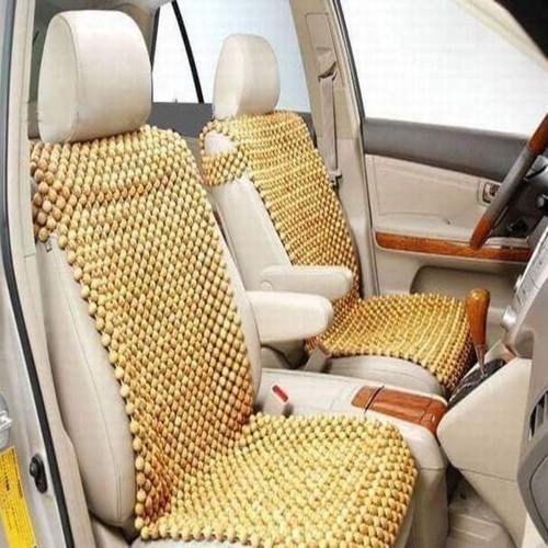 Đệm lót ghế massage ô tô, xe hơi 100 phần trăm gỗ tự nhiên PƠ MU cao cấp PM-V @Sản xuất thủ công tại Xưởng