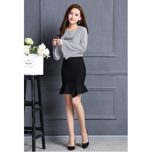 Chân váy nữ Kaki thun co giãn CV14