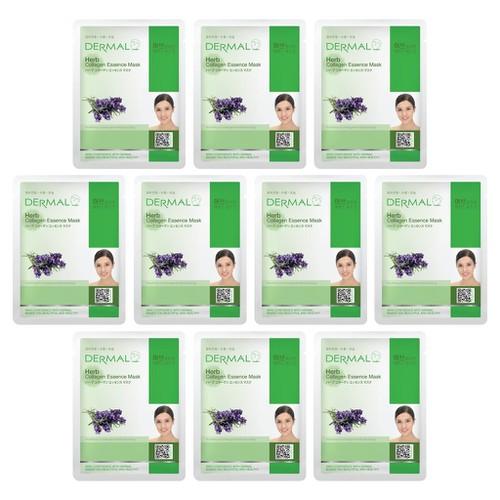 Bộ 10 x Mặt nạ dưỡng da tinh chất thảo mộc Dermal Herb Collagen Essence Mask 23g