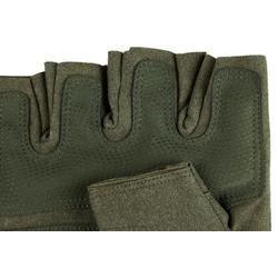 Găng Tay Thể Thao Chiến Thuật Hở Ngón TI215 Xanh lính, tặng khăn đa năng đi phượt K335