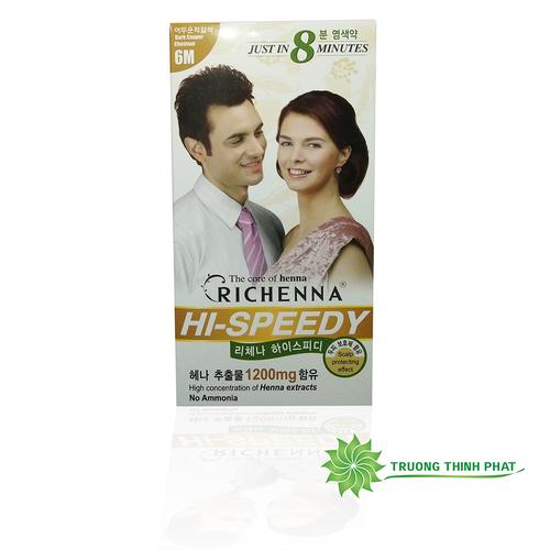 Thuốc nhuộm tóc phủ bạc Richenna Hàn Quốc màu nâu đen