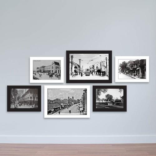 """Bộ 6 khung ảnh tiện ích """"Những góc phố xưa"""" – WK162"""