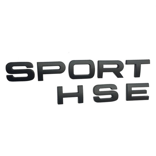 Logo Chữ nổi SPORT HSE dán trang trí đuôi xe