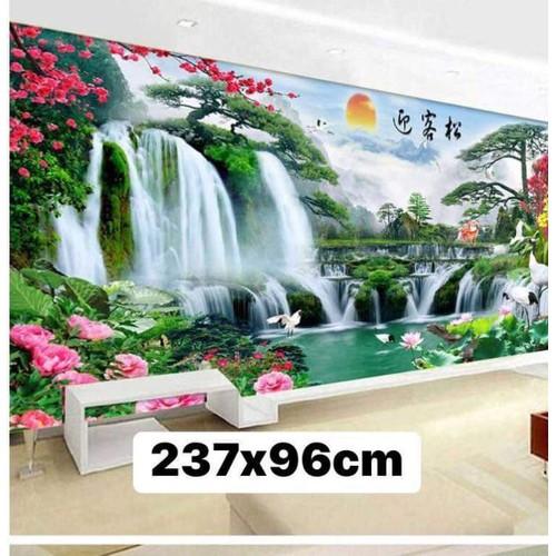 tranh thêu chữ thập khổ lớn 237x96cm