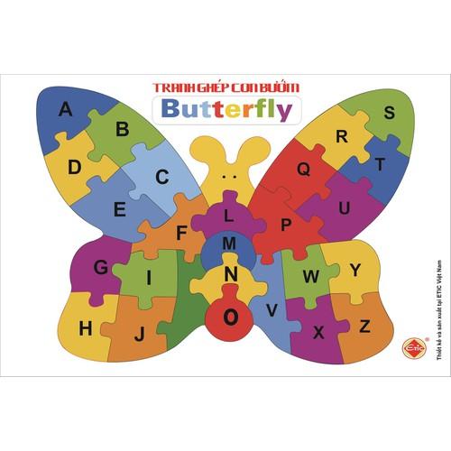 Tranh ghép con bướm_Etic - 7737879 , 17948620 , 15_17948620 , 35000 , Tranh-ghep-con-buom_Etic-15_17948620 , sendo.vn , Tranh ghép con bướm_Etic
