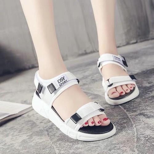 Dép sandal nữ quai ngang chữ Sport siêu nhẹ đi cực êm chân - giày sandal nữ, sandal đi học, sandal hàn quốc, sandal đế bệt, sandal đế bánh mì, sandal đế bằng, sandal 3 quai, màu đen trắng hồng, sandal nu dep di hoc - 8699296 , 17944966 , 15_17944966 , 129000 , Dep-sandal-nu-quai-ngang-chu-Sport-sieu-nhe-di-cuc-em-chan-giay-sandal-nu-sandal-di-hoc-sandal-han-quoc-sandal-de-bet-sandal-de-banh-mi-sandal-de-bang-sandal-3-quai-mau-den-trang-hong-sandal-nu-dep-di-hoc-15_179