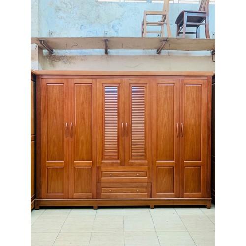 Tủ 6 cánh gỗ xoan đào