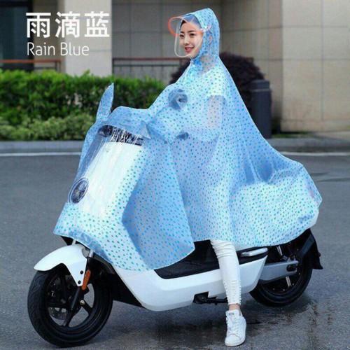 Áo mưa chấm bi - áo mưa choàng kính có che mặt