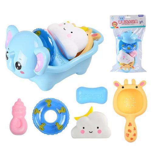 Bộ đồ chơi nhà tắm cho bé tặng kèm 1 khẩu trang xô xuất Nhật cho bé