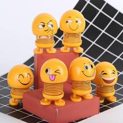THÚ NHÚN LÒ XO 6 SẮC THÁI - icon lò xo mặt cười nhún siêu cute - icon lò xo nhún - thú nhún lò xo trang trí nội thất ô tô - đồ chơi bàn làm việc - bàn học tập