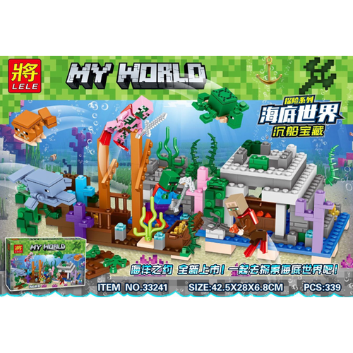 Lắp ráp xếp hình sáng tạo Minecraft kho báu đáy biển 339 khối LELE33241