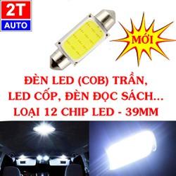 Đèn led trần, cốp xe hơi ô tô loại 12 CHIP LED dài 39mm