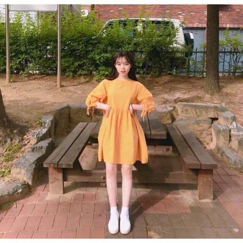 Váy baby doll tay bồng nơ - 7623420 , 17958931 , 15_17958931 , 96000 , Vay-baby-doll-tay-bong-no-15_17958931 , sendo.vn , Váy baby doll tay bồng nơ