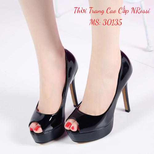 Giày cao gót hở mũi 10 cm màu đen bóng size 33 đến 43 NRossi - 8727037 , 17954864 , 15_17954864 , 470000 , Giay-cao-got-ho-mui-10-cm-mau-den-bong-size-33-den-43-NRossi-15_17954864 , sendo.vn , Giày cao gót hở mũi 10 cm màu đen bóng size 33 đến 43 NRossi