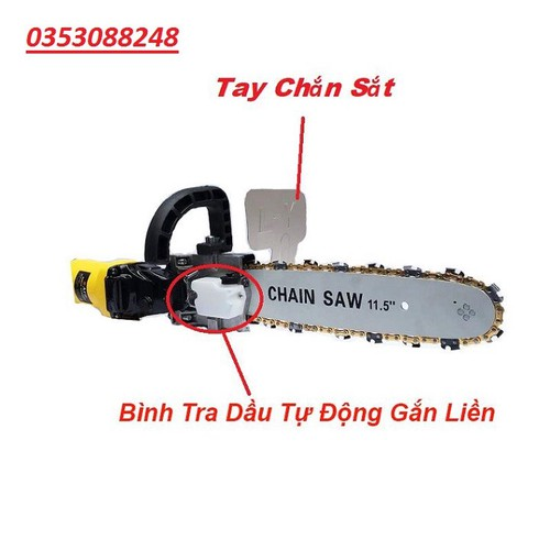 Bộ Lưỡi Cưa Gắn Máy mài Loại có chắn sắt + Bình Tra Dầu Tự Động Gắn Liền - chain-saw-11.5 loại 1 - 8740422 , 17959916 , 15_17959916 , 300000 , Bo-Luoi-Cua-Gan-May-mai-Loai-co-chan-sat-Binh-Tra-Dau-Tu-Dong-Gan-Lien-chain-saw-11.5-loai-1-15_17959916 , sendo.vn , Bộ Lưỡi Cưa Gắn Máy mài Loại có chắn sắt + Bình Tra Dầu Tự Động Gắn Liền - chain-saw-11.5 loạ