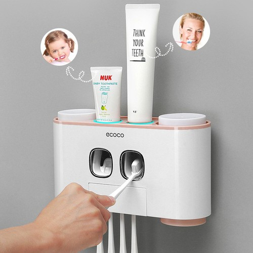 Bộ đựng bàn chải và kem đánh răng tự động ECOCO
