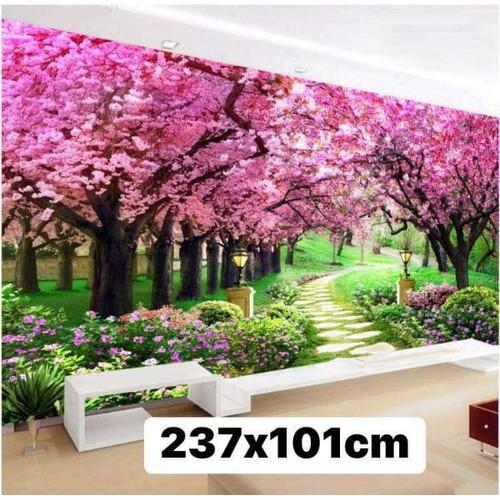 tranh thêu chữ thập phong cảnh khổ lớn 237x101cm
