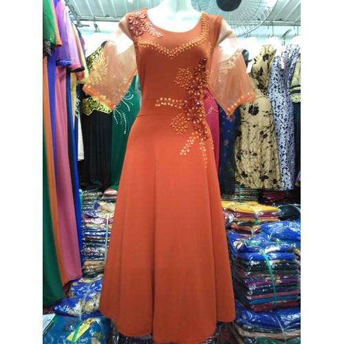 Đầm dạ hội trung niên form lửng