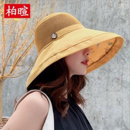 Mũ vành rộng họa tiết hoa-mũ thời trang-mũ đi biển