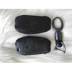 Bao Da Chìa Khoá Gập 2 nút Ford Ranger 2015 trở lên