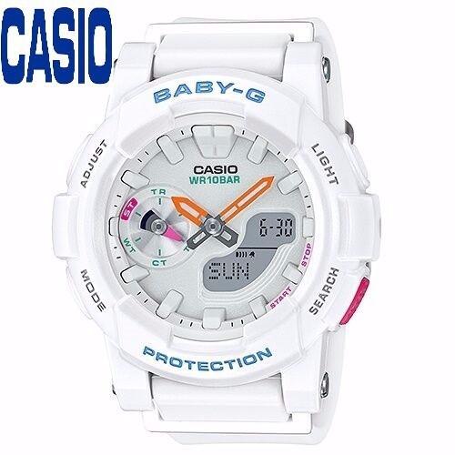 Đồng hồ nữ CASIO BGA-185-7AVDR kính khoáng dây cao su trắng
