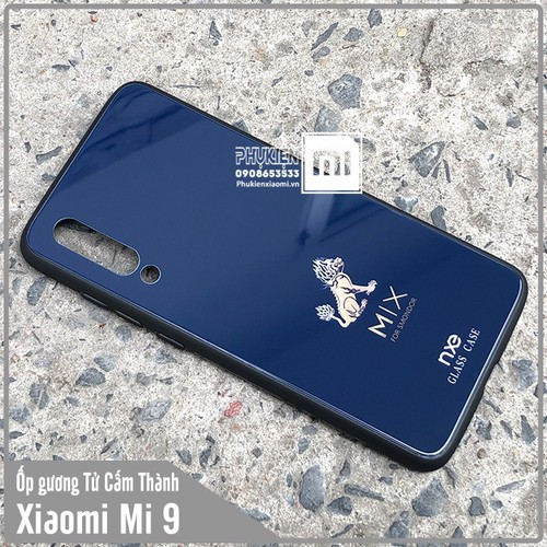 Ốp lưng gương XM Mi 9 hình Tử Cẩm Thành Kỳ Lân nhỏ - xanh dương