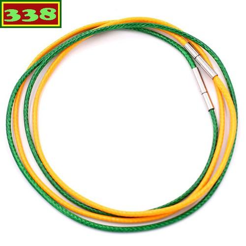 Combo 2 dây vòng cổ cao su xanh lá vàng DCSXLV1 - Dây dù bọc cao su