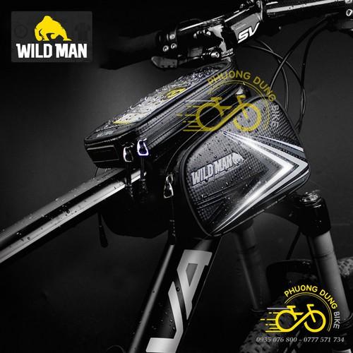 Túi đôi treo sườn xe đạp Wild Man có đt