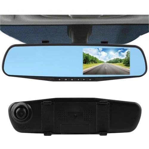 lắp camera hành trình ô tô- camera hành trình ô tô dạng gương có camera lùi
