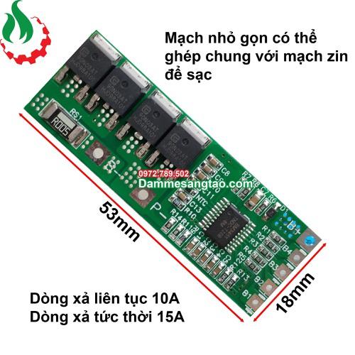 DMST Mạch 5S 18V -10A bảo vệ pin li-ion