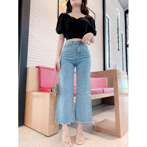Quần jeans baggy nữ  kiểu ống loe - 8743567 , 17960990 , 15_17960990 , 135000 , Quan-jeans-baggy-nu-kieu-ong-loe-15_17960990 , sendo.vn , Quần jeans baggy nữ  kiểu ống loe