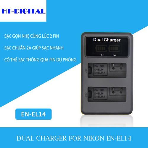 Sạc đôi pin EN-EL14 cho Nikon D3100 D3200 D5100 D5200 P7000 P7100 D5300 - 8697199 , 17944142 , 15_17944142 , 190000 , Sac-doi-pin-EN-EL14-cho-Nikon-D3100-D3200-D5100-D5200-P7000-P7100-D5300-15_17944142 , sendo.vn , Sạc đôi pin EN-EL14 cho Nikon D3100 D3200 D5100 D5200 P7000 P7100 D5300