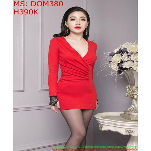 Đầm body đỏ dài tay phối ren lưới đen sang trọng DOM380 - 8685818 , 17940000 , 15_17940000 , 390000 , Dam-body-do-dai-tay-phoi-ren-luoi-den-sang-trong-DOM380-15_17940000 , sendo.vn , Đầm body đỏ dài tay phối ren lưới đen sang trọng DOM380