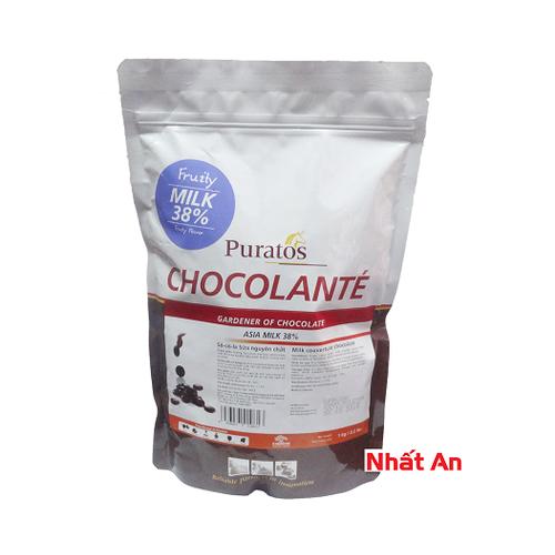 Socola sữa hạt nút 38 phần trăm - 500gr