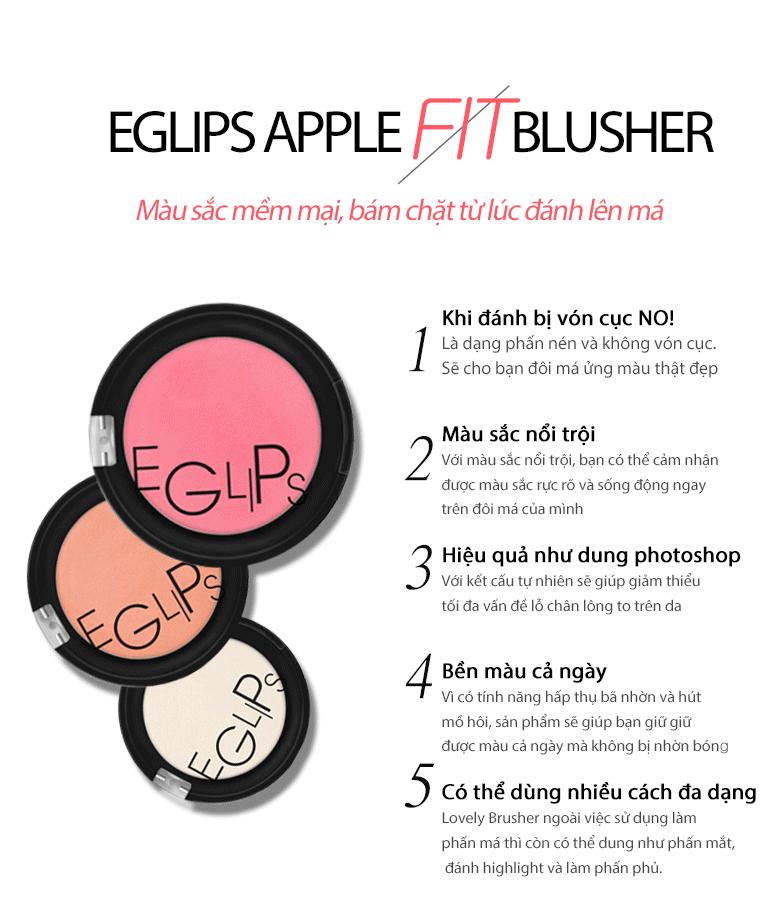 Phấn Má Hồng Eglips Apple Fit Blusher
