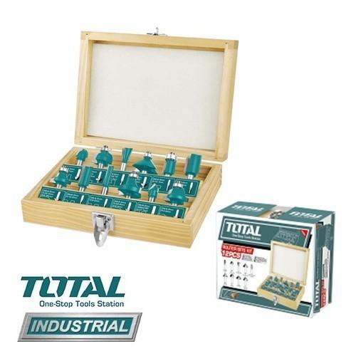Bộ 12 mũi phay gỗ 12.7li Total - TACSR0102121