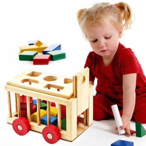 Bộ đồ xe cũi thả hình giúp bé phát triển trí thông minh