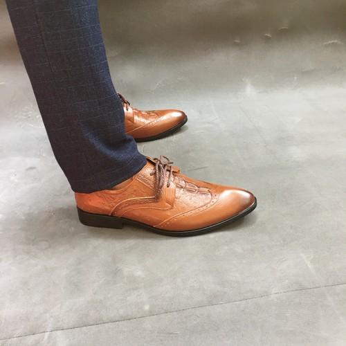 Giày tây nam da bò thật dập vân bảo hành da 1 năm