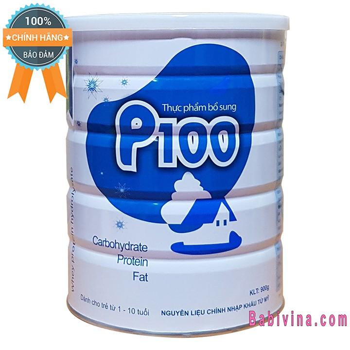 [CHO XEM HÀNG] Sữa Bột P100 900g Cho Bé Suy Dinh Dưỡng, Chậm Lớn