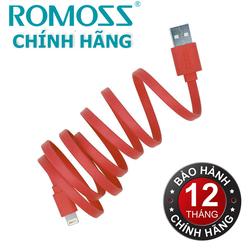Cáp sạc iPhone iPad Lightning Romoss CB12F Đỏ - Hãng phân phối chính thức