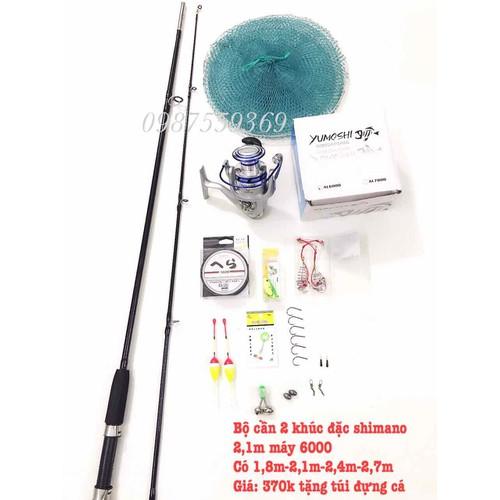 Bộ cần câu cá shimano 2 khúc 2m1 tặng kèm túi cá - 4964761 , 17942653 , 15_17942653 , 450000 , Bo-can-cau-ca-shimano-2-khuc-2m1-tang-kem-tui-ca-15_17942653 , sendo.vn , Bộ cần câu cá shimano 2 khúc 2m1 tặng kèm túi cá