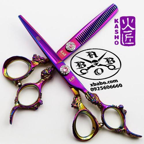 Kéo cắt tóc Kasho rồng tím