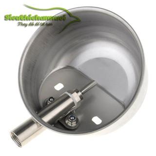 Máng uống tự động cho heo bằng inox size 17 cm - HMU01L thumbnail