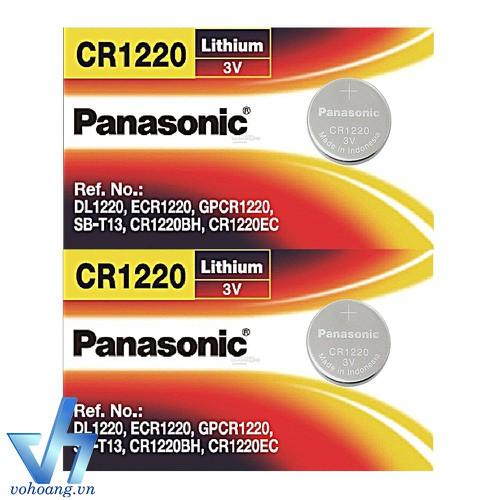 2 Pin Panasonic CR1220 dùng cho máy tính bỏ túi, remote, đồng hồ, nhiệt kế, v.v…