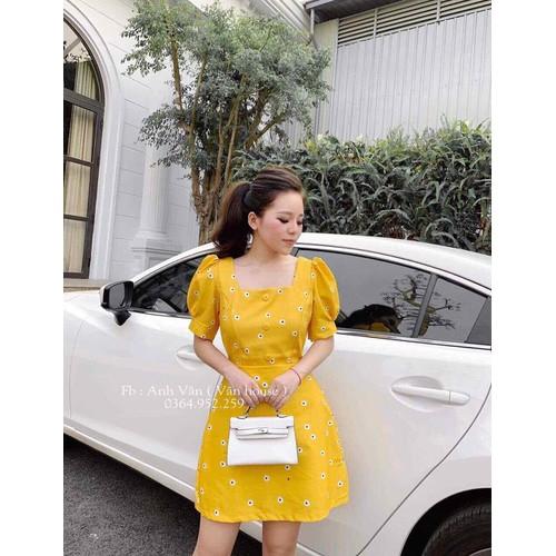 váy cúc vàng