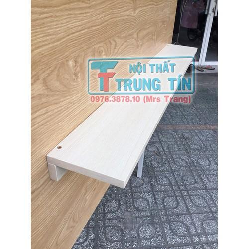 kệ sách gỗ treo tường ngang 80 x 1 tấm