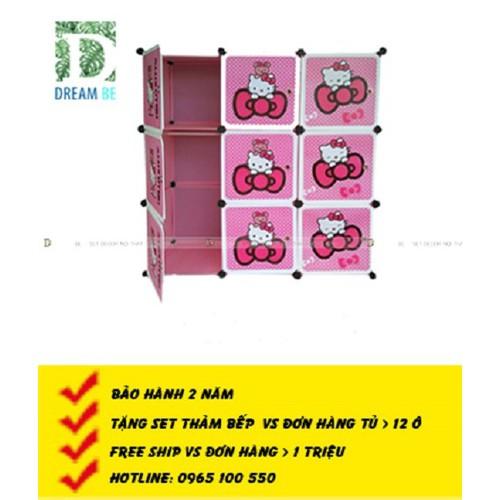 Tủ nhựa ghép  9 ô hình hello kitty màu hồng - 4769518 , 17969928 , 15_17969928 , 709000 , Tu-nhua-ghep-9-o-hinh-hello-kitty-mau-hong-15_17969928 , sendo.vn , Tủ nhựa ghép  9 ô hình hello kitty màu hồng