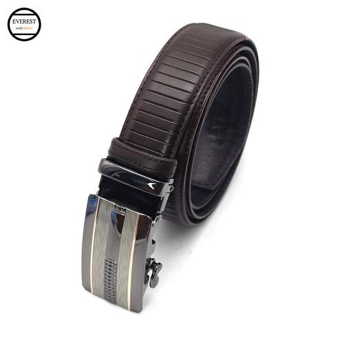 Thắt lưng da dây nịt da nam cao cấp thời trang Everest TLD-03-Nâu