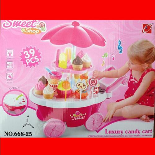 Bộ đồ chơi cho bé | Xe đẩy đồ chơi kem cho bé thông minh có nhạc - 8764946 , 17968575 , 15_17968575 , 250000 , Bo-do-choi-cho-be-Xe-day-do-choi-kem-cho-be-thong-minh-co-nhac-15_17968575 , sendo.vn , Bộ đồ chơi cho bé | Xe đẩy đồ chơi kem cho bé thông minh có nhạc
