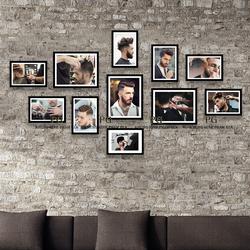 Bộ Khung Treo Tường Trang Trí Salon Cắt Tóc Nam Cực Đẹp Kèm Ảnh Và Tặng Kèm đinh treo, sơ đồ treo tranh – Khung Hình Phạm Gia PGC237